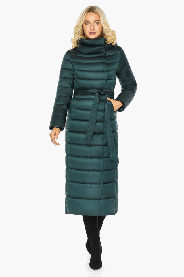 """Куртка зимняя изумрудная женская с манжетами модель 46620 Braggart """"Angel's Fluff"""" фото 8"""