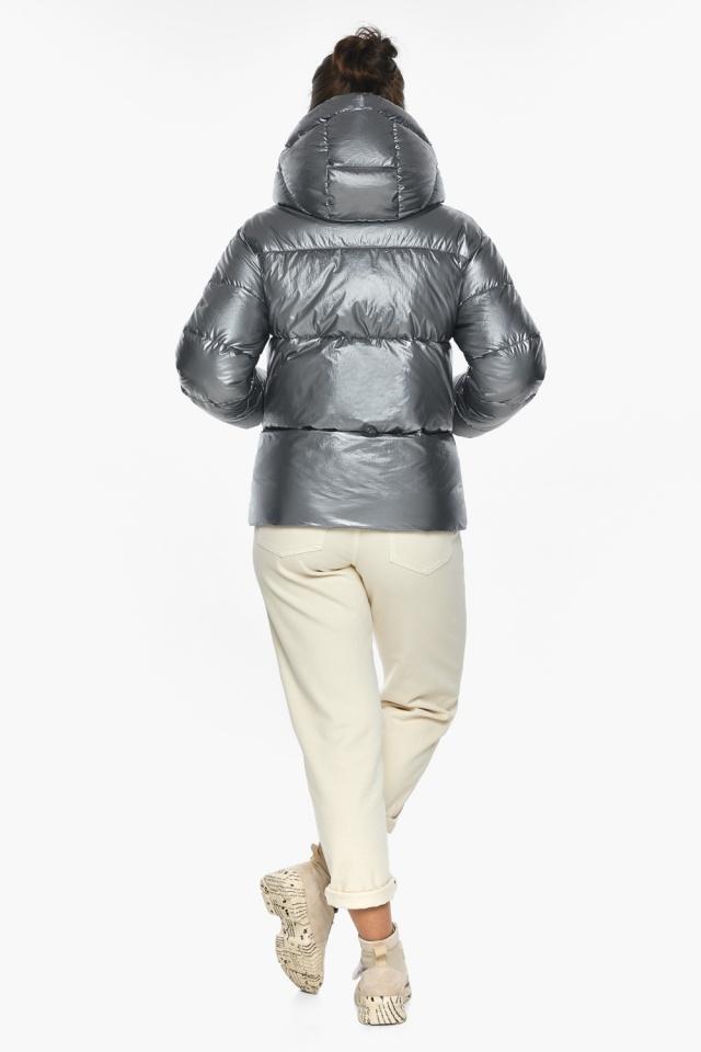 """Куртка с ветрозащитным клапаном женская цвет серебро модель 44520 Braggart """"Angel's Fluff"""" фото 8"""
