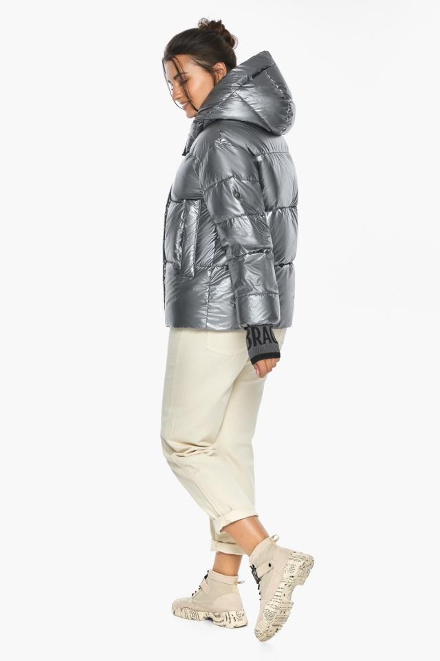 """Куртка с ветрозащитным клапаном женская цвет серебро модель 44520 Braggart """"Angel's Fluff"""" фото 7"""