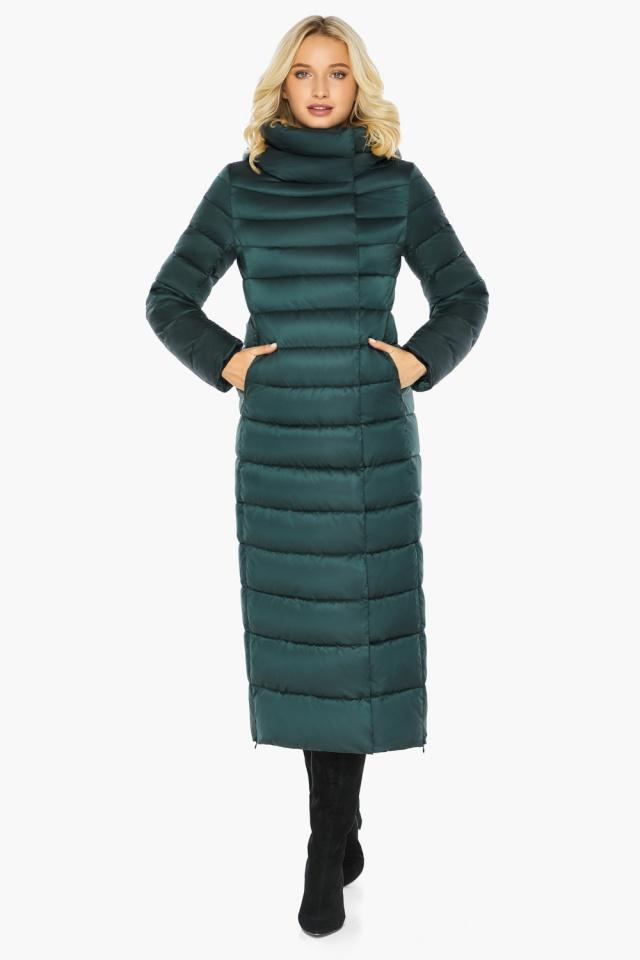 """Куртка зимняя изумрудная женская с манжетами модель 46620 Braggart """"Angel's Fluff"""" фото 5"""