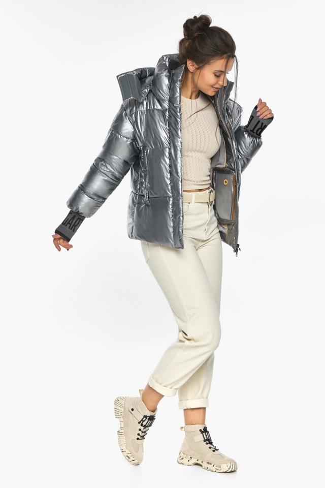 """Куртка с ветрозащитным клапаном женская цвет серебро модель 44520 Braggart """"Angel's Fluff"""" фото 5"""