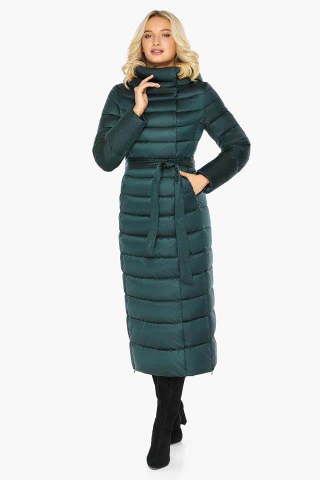 """Куртка зимняя изумрудная женская с манжетами модель 46620 Braggart """"Angel's Fluff"""" фото 2"""