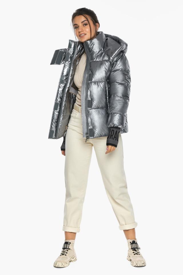 """Куртка с ветрозащитным клапаном женская цвет серебро модель 44520 Braggart """"Angel's Fluff"""" фото 3"""