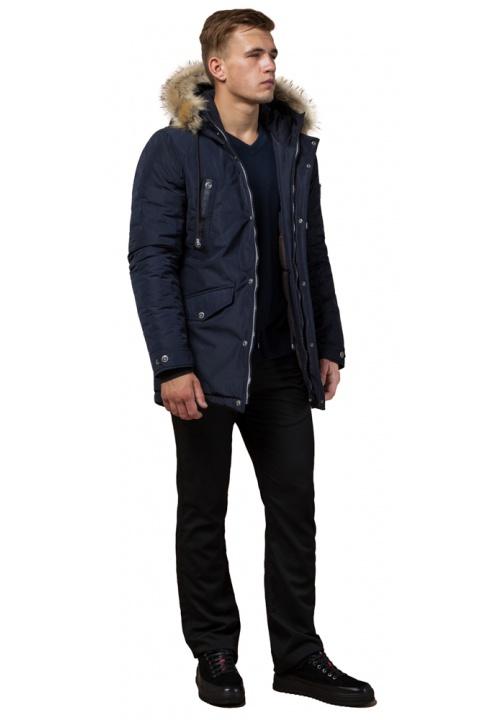 """Синя якісна чоловіча зимова парка модель 27830 Braggart """"Dress Code"""" фото 1"""