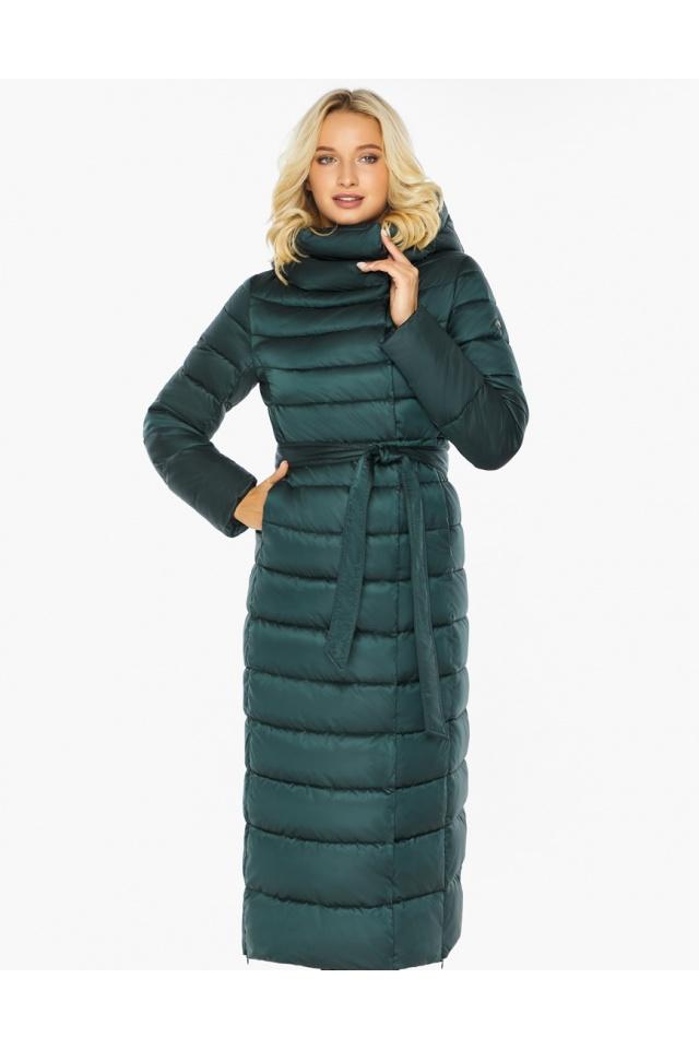 """Куртка зимняя изумрудная женская с манжетами модель 46620 Braggart """"Angel's Fluff"""" фото 4"""