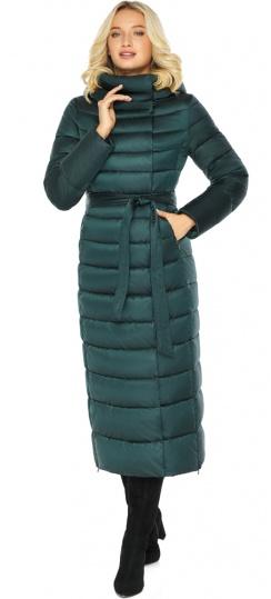 """Куртка зимняя изумрудная женская с манжетами модель 46620 Braggart """"Angel's Fluff"""" фото 1"""