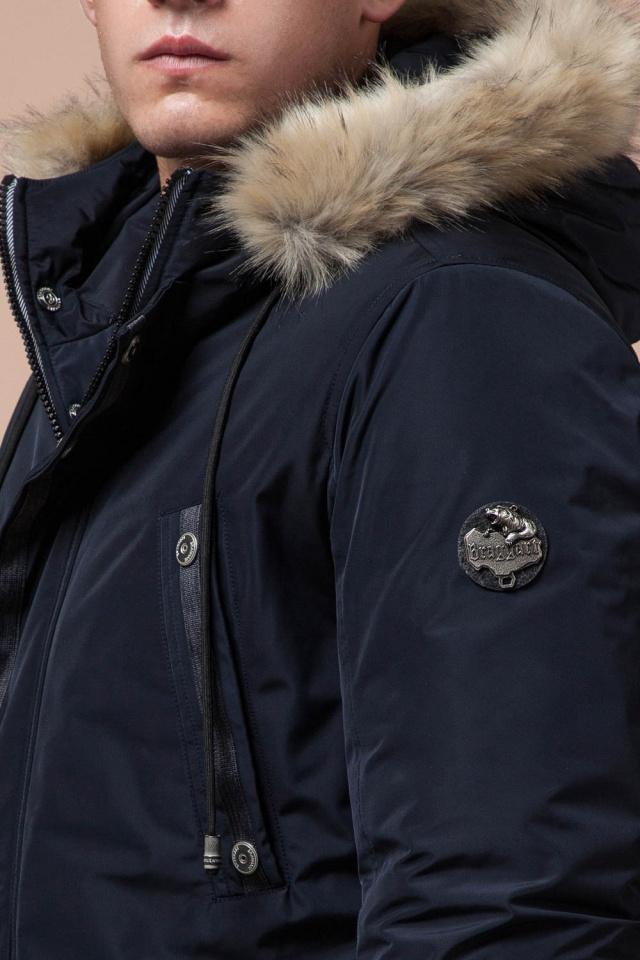 """Синяя качественная мужская зимняя парка модель 27830 Braggart """"Dress Code"""" фото 8"""