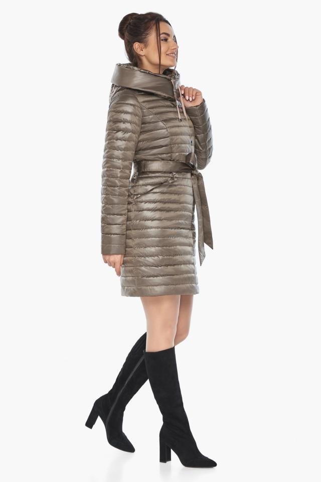 """Капучиновая осенне-весенняя куртка с капюшоном женская модель 66870 Braggart """"Angel's Fluff"""" фото 3"""
