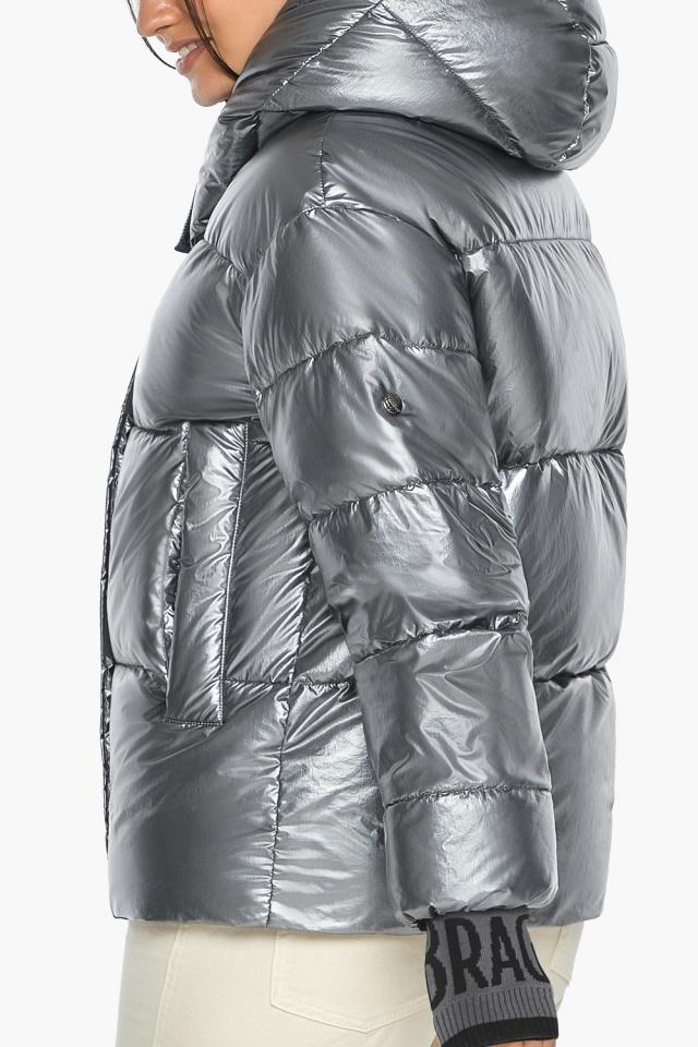 """Куртка с ветрозащитным клапаном женская цвет серебро модель 44520 Braggart """"Angel's Fluff"""" фото 9"""