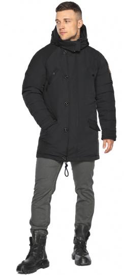 """Куртка – воздуховик прямого кроя чёрный мужской на зиму модель 30707 Braggart """"Angel's Fluff Man"""" фото 1"""