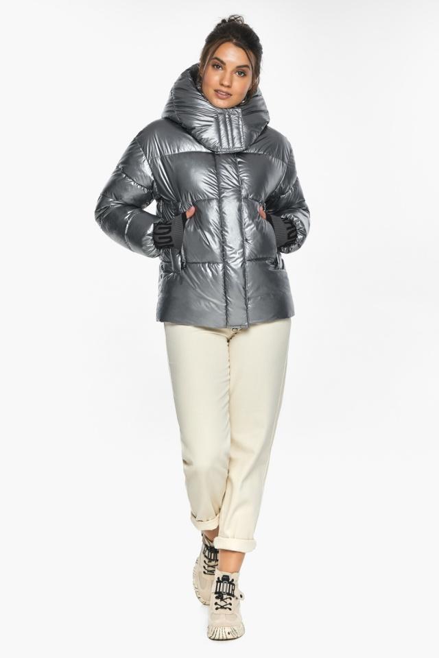 """Куртка с ветрозащитным клапаном женская цвет серебро модель 44520 Braggart """"Angel's Fluff"""" фото 2"""