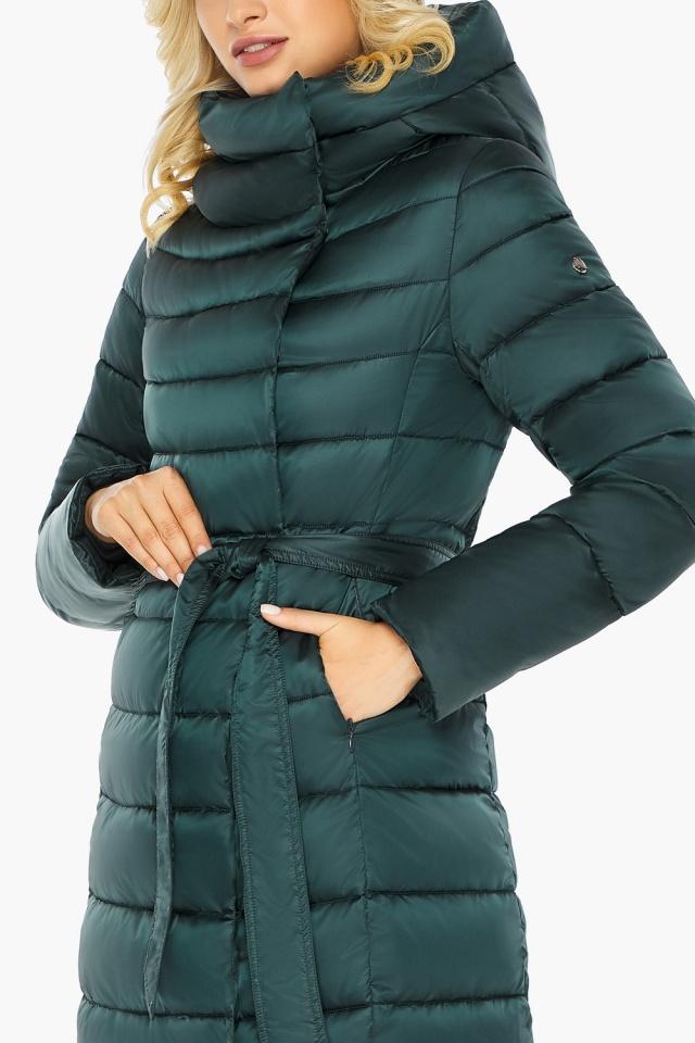 """Куртка зимняя изумрудная женская с манжетами модель 46620 Braggart """"Angel's Fluff"""" фото 11"""