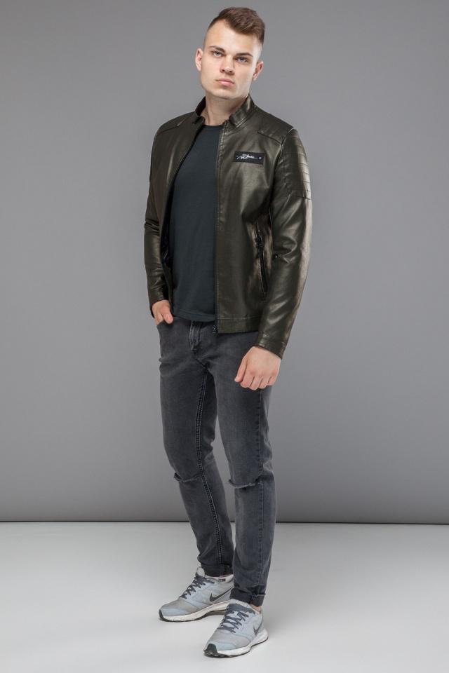 Молодежная куртка мужская осенне-весенняя цвет хаки модель 36361
