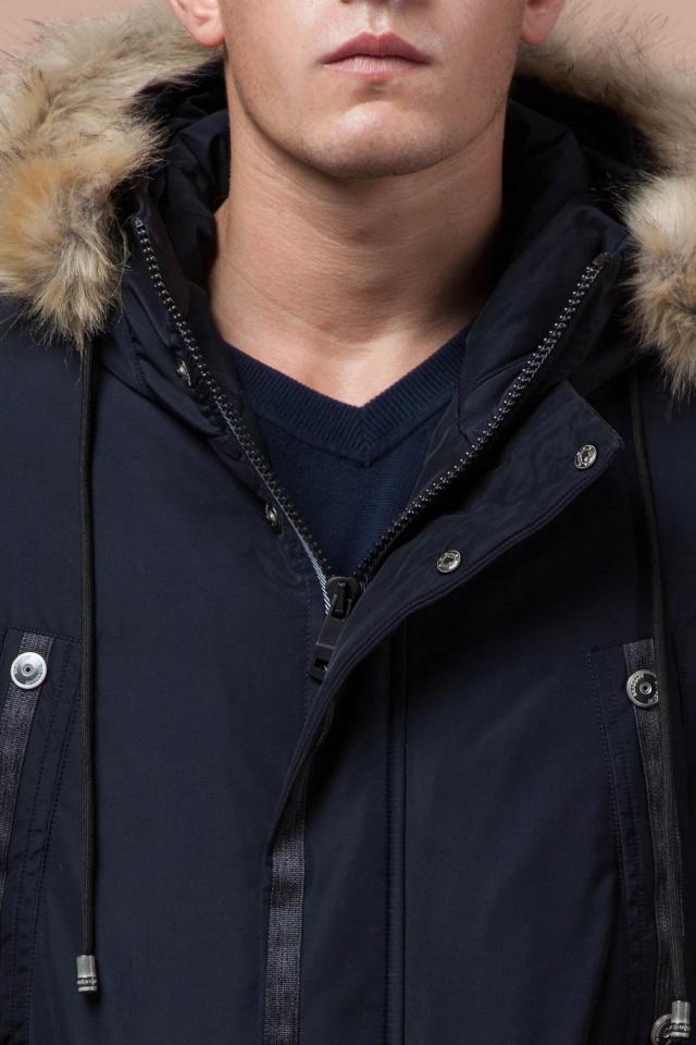 """Синяя качественная мужская зимняя парка модель 27830 Braggart """"Dress Code"""" фото 6"""