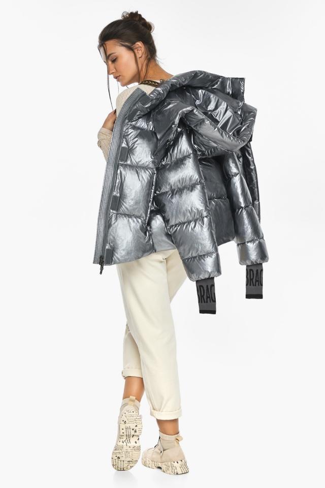 """Куртка с ветрозащитным клапаном женская цвет серебро модель 44520 Braggart """"Angel's Fluff"""" фото 4"""