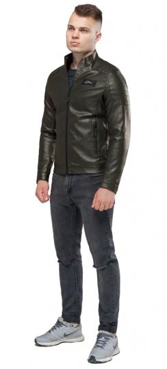 "Кожаная мужская куртка цвета хаки модель 36361 Braggart ""Youth"" фото 1"