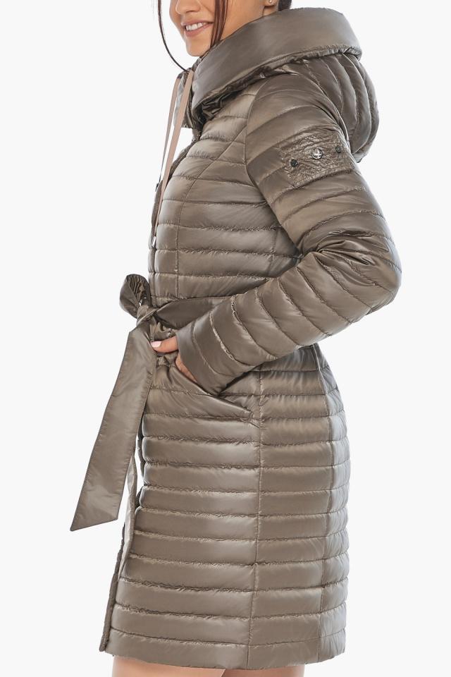 """Капучиновая осенне-весенняя куртка с капюшоном женская модель 66870 Braggart """"Angel's Fluff"""" фото 7"""