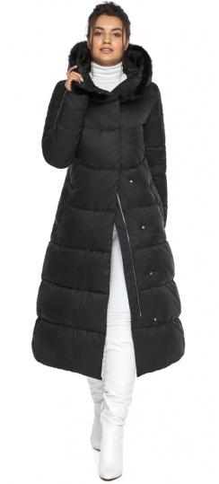"""Куртка удобная женская черная модель 45085 Braggart """"Angel's Fluff"""" фото 1"""