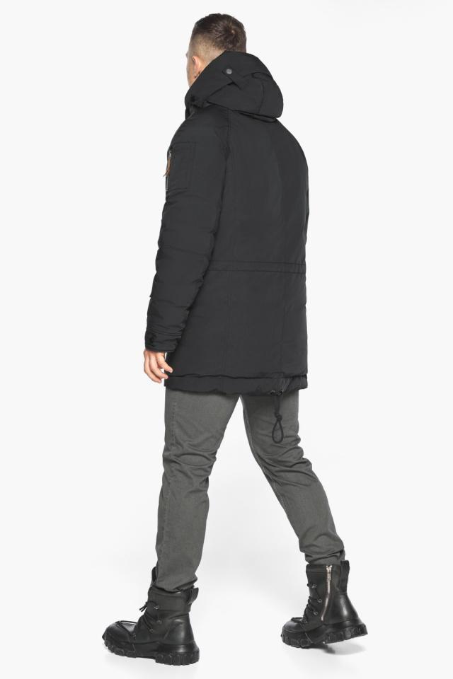 """Куртка – воздуховик прямого кроя чёрный мужской на зиму модель 30707 Braggart """"Angel's Fluff Man"""" фото 9"""