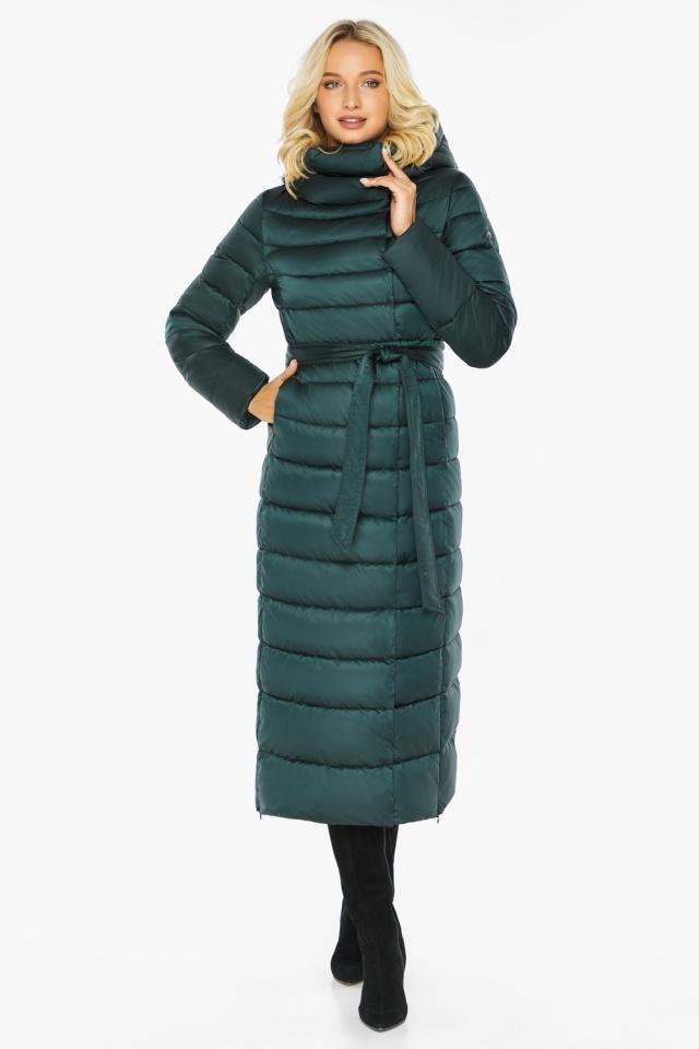 """Куртка зимняя изумрудная женская с манжетами модель 46620 Braggart """"Angel's Fluff"""" фото 7"""