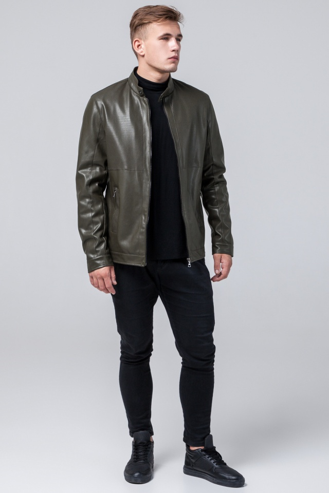 """Модная куртка на мальчика цвет хаки модель 2193 Braggart """"Youth"""" фото 2"""
