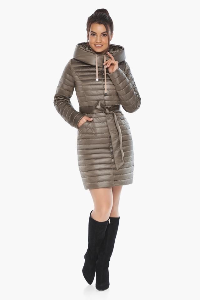 """Капучиновая осенне-весенняя куртка с капюшоном женская модель 66870 Braggart """"Angel's Fluff"""" фото 2"""