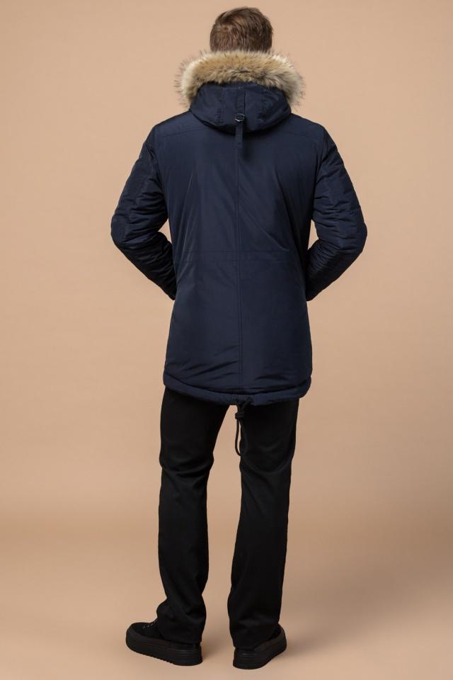 """Синяя качественная мужская зимняя парка модель 27830 Braggart """"Dress Code"""" фото 5"""