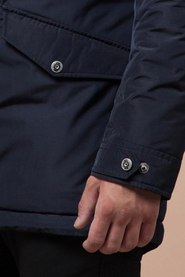 """Синяя качественная мужская зимняя парка модель 27830 Braggart """"Dress Code"""" фото 7"""