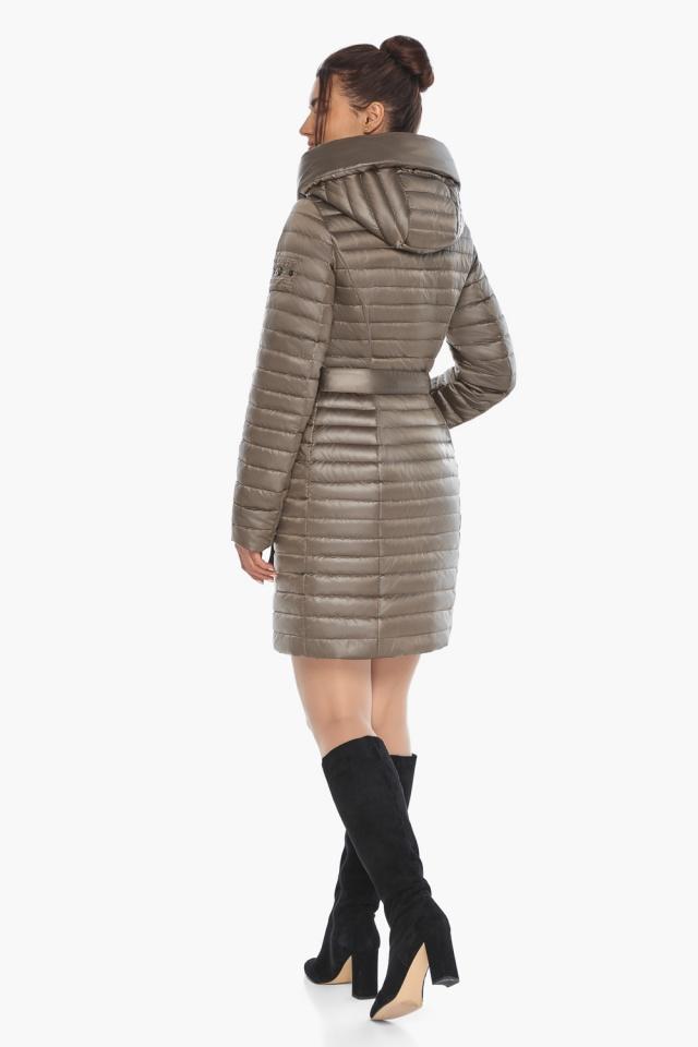 """Капучиновая осенне-весенняя куртка с капюшоном женская модель 66870 Braggart """"Angel's Fluff"""" фото 6"""