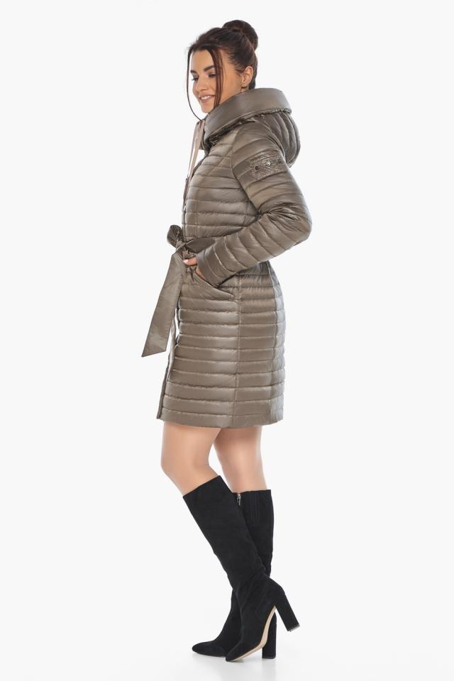 """Капучиновая осенне-весенняя куртка с капюшоном женская модель 66870 Braggart """"Angel's Fluff"""" фото 5"""