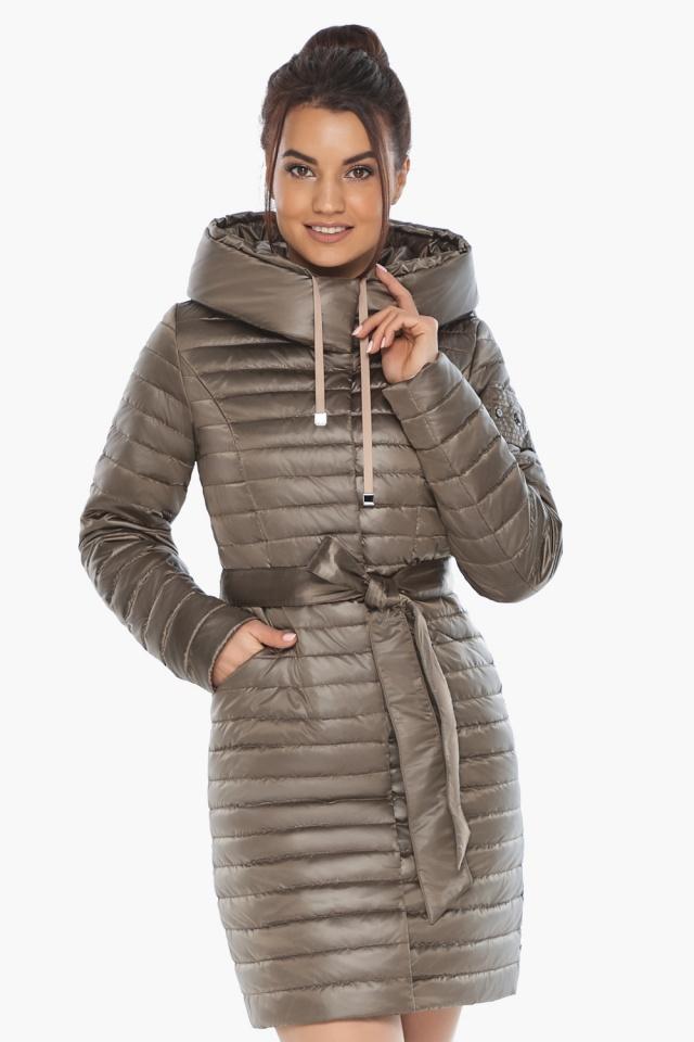 """Капучиновая осенне-весенняя куртка с капюшоном женская модель 66870 Braggart """"Angel's Fluff"""" фото 4"""