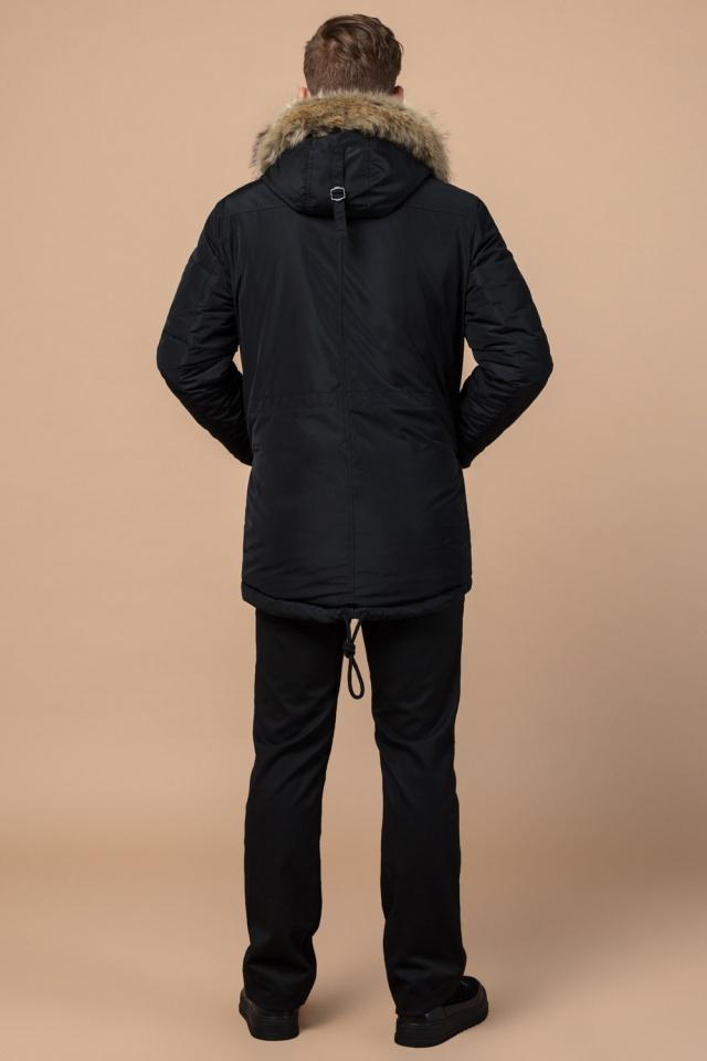 """Черная зимняя мужская парка с долговечной фурнитурой модель 27830 Braggart """"Dress Code"""" фото 5"""