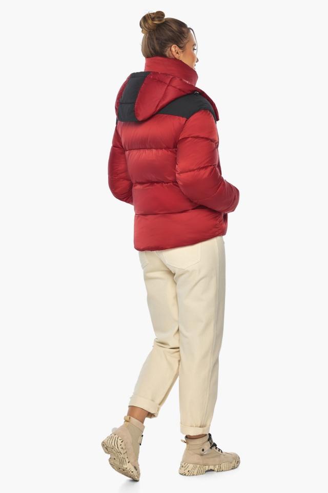 """Рубиновая куртка с воротником женская зимняя модель 57520 Braggart """"Angel's Fluff"""" фото 7"""