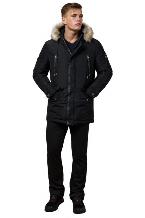 """Черная зимняя мужская парка с долговечной фурнитурой модель 27830 Braggart """"Dress Code"""" фото 1"""