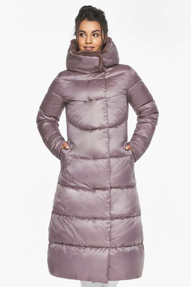 """Женская куртка с прорезными карманами цвет пудра модель 45085 Braggart """"Angel's Fluff"""" фото 3"""