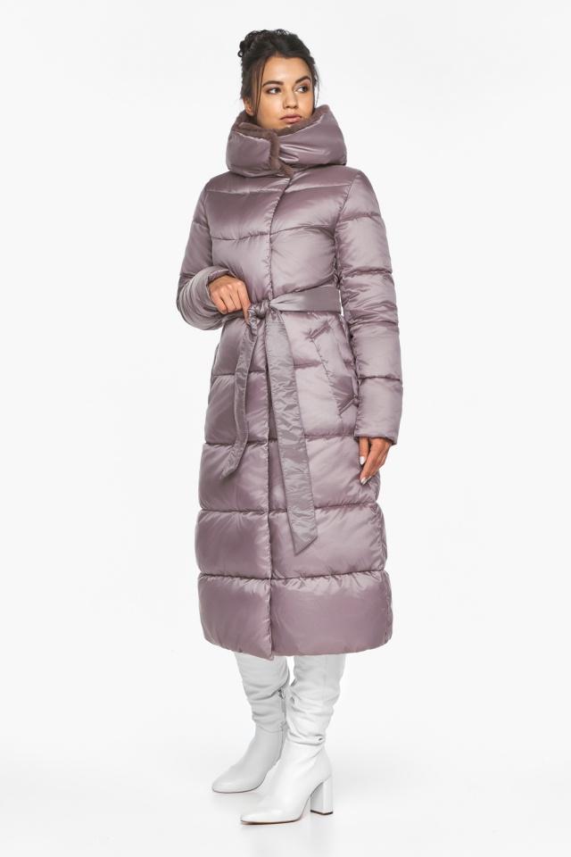 """Женская куртка с прорезными карманами цвет пудра модель 45085 Braggart """"Angel's Fluff"""" фото 4"""