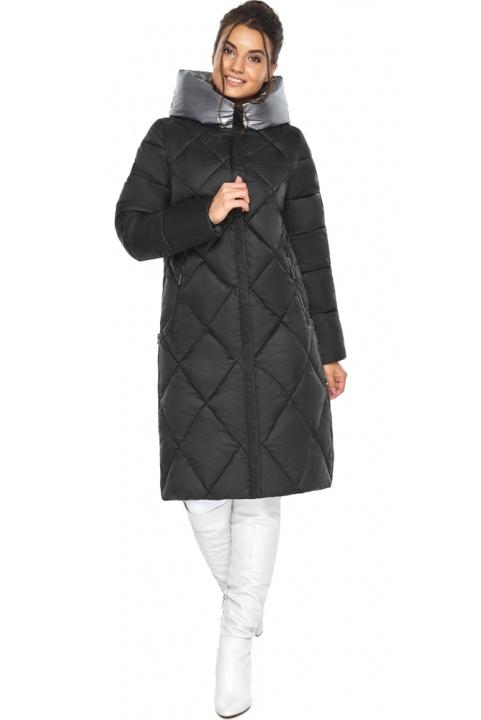 "Жіноча чорна куртка зимова з капюшоном модель 46510 Braggart ""Angel's Fluff"" фото 1"