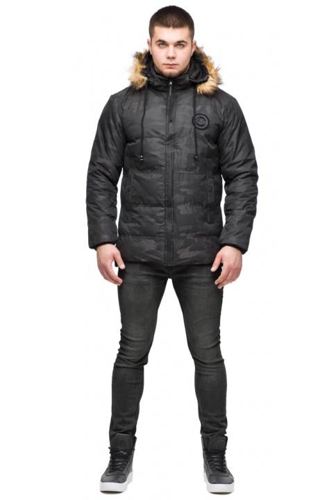 """Зимова мілітарі-куртка чорного кольору на чоловіка модель 25310 Braggart """"Youth"""" фото 1"""
