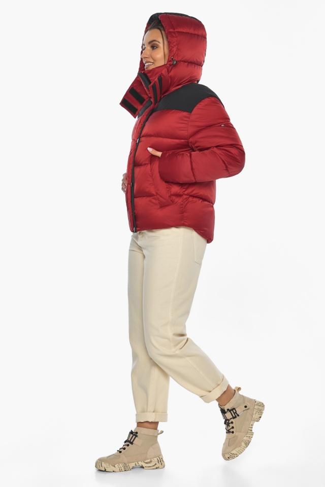 """Рубиновая куртка с воротником женская зимняя модель 57520 Braggart """"Angel's Fluff"""" фото 2"""
