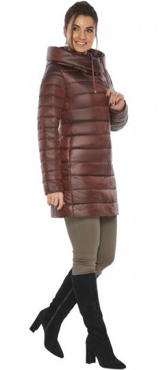 """Каштановая куртка с капюшоном женская осенне-весенняя модель 65085 Braggart """"Angel's Fluff"""" фото 1"""