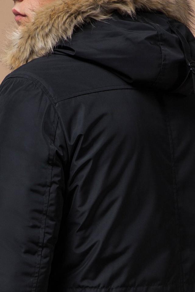 """Черная зимняя мужская парка с долговечной фурнитурой модель 27830 Braggart """"Dress Code"""" фото 8"""