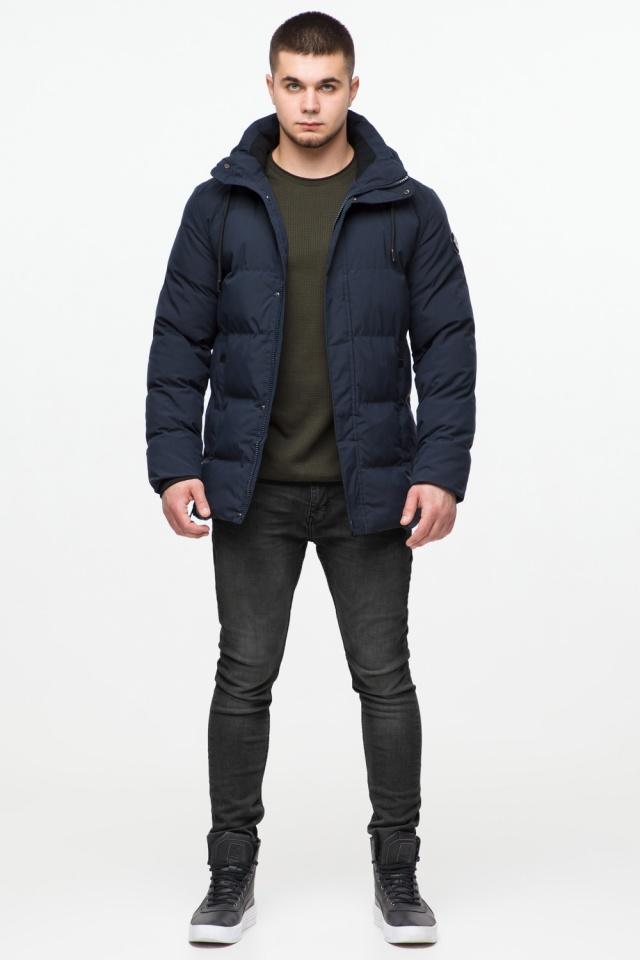 """Куртка мужская с капюшоном синяя зимняя модель 25280 Braggart """"Youth"""" фото 3"""