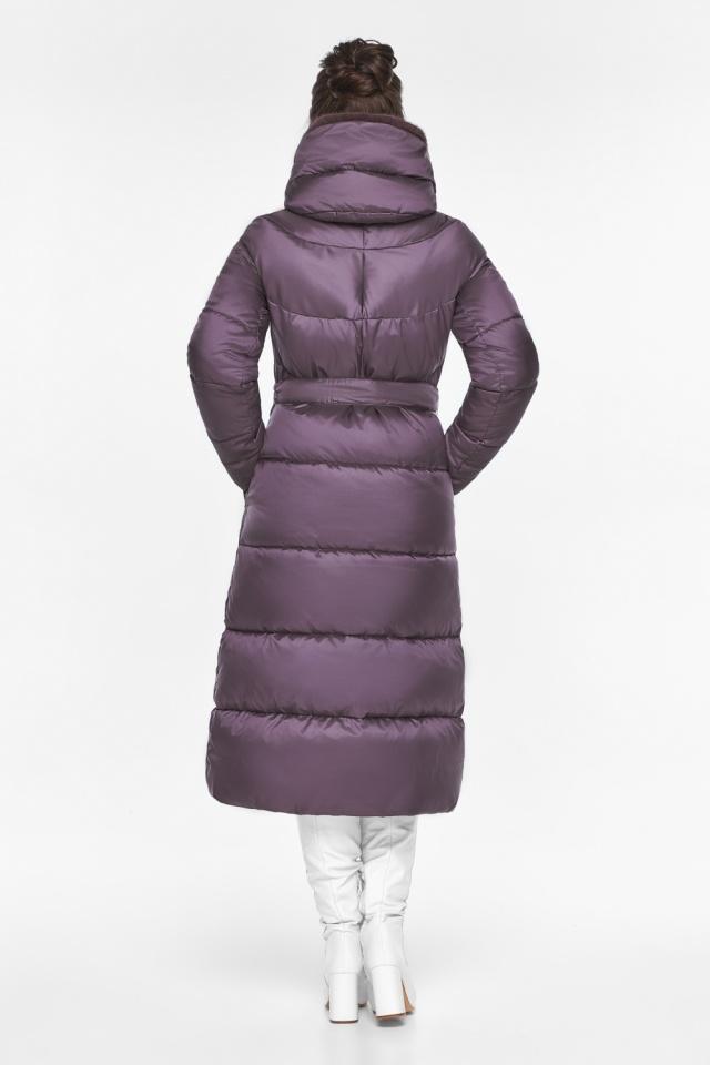 """Куртка длинная женская цвет баклажан модель 45085 Braggart """"Angel's Fluff"""" фото 6"""