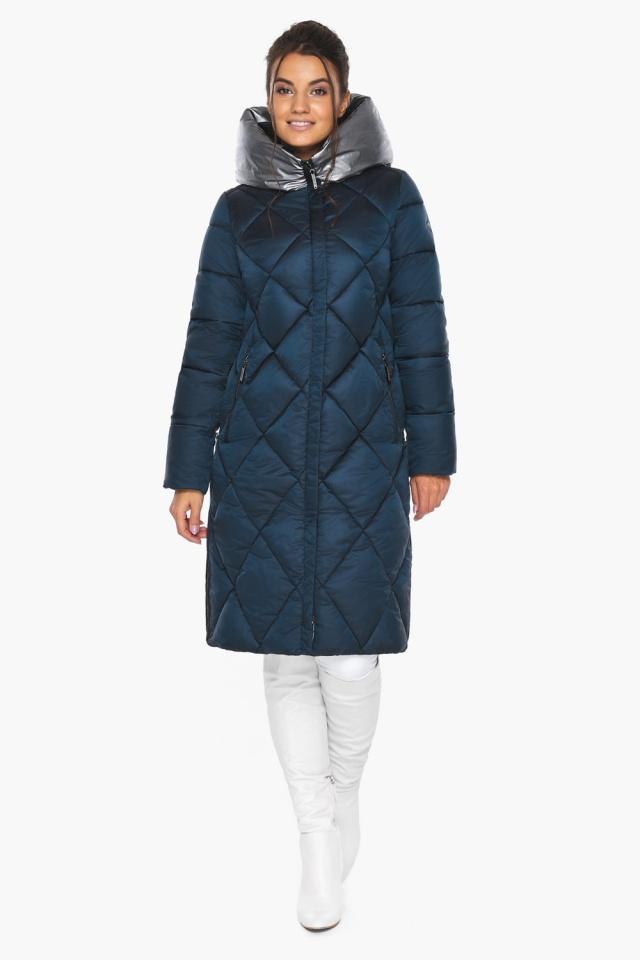 """Сапфировая куртка зимняя женская с внутренним карманом модель 46510 Braggart """"Angel's Fluff"""" фото 2"""