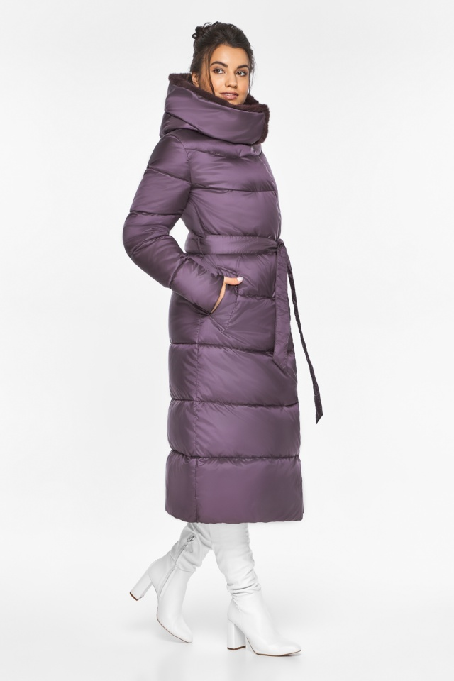 """Куртка длинная женская цвет баклажан модель 45085 Braggart """"Angel's Fluff"""" фото 5"""