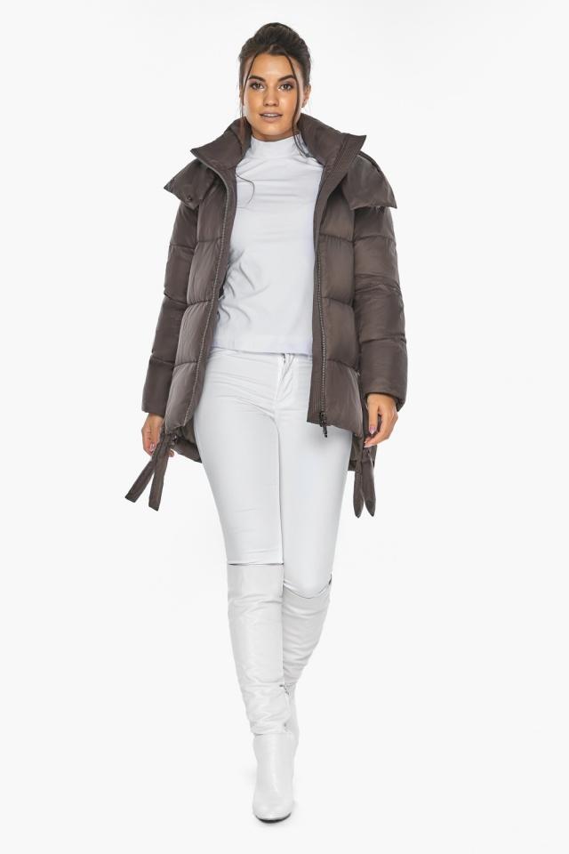"""Оригинальная куртка женская цвет капучино модель 43070 Braggart """"Angel's Fluff"""" фото 6"""
