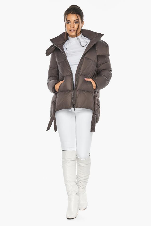 """Оригинальная куртка женская цвет капучино модель 43070 Braggart """"Angel's Fluff"""" фото 3"""