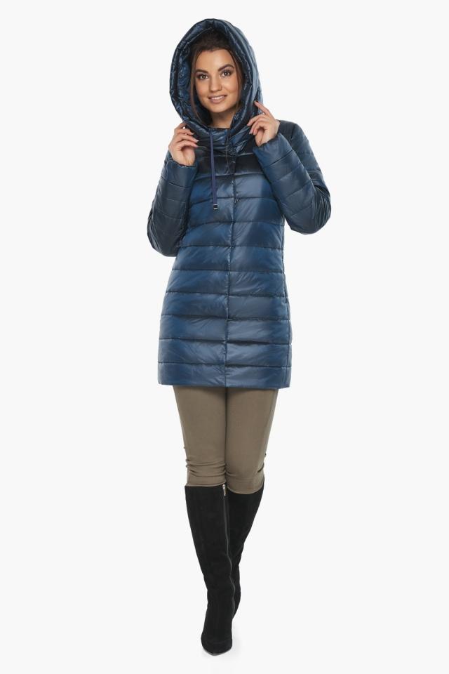 """Куртка комфортная осенне-весенняя женская цвет ниагара модель 65085 Braggart """"Angel's Fluff"""" фото 5"""