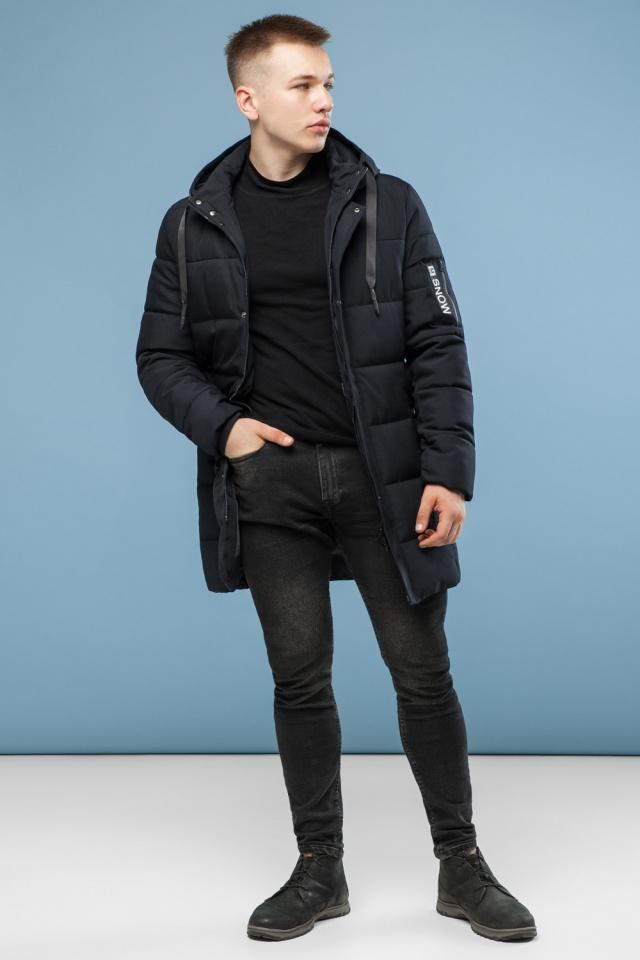 Куртка удобная мужская зимняя черная модель 6003 Kiro Tokao – Ajento фото 3