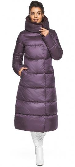 """Куртка длинная женская цвет баклажан модель 45085 Braggart """"Angel's Fluff"""" фото 1"""